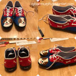 Painted Shoes Commission: Sweet Puppy by Cyber-murph