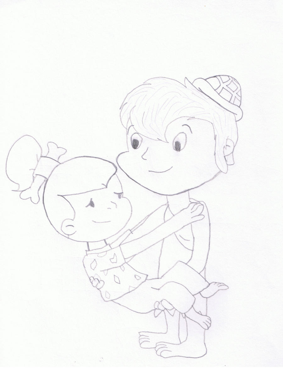pebbles and bambam coloring pages - photo#11