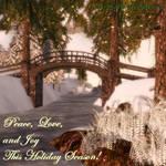 Peace, Love and Joy - GREETING CARD by LlolaLane