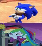 Rainbow Dash Reaction To Sonic Boom Trailer.