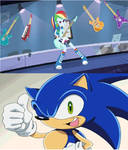 Sonic approves rainbow rocks