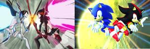 Ryuko Matoi and Shadow the hedgehog Comparison
