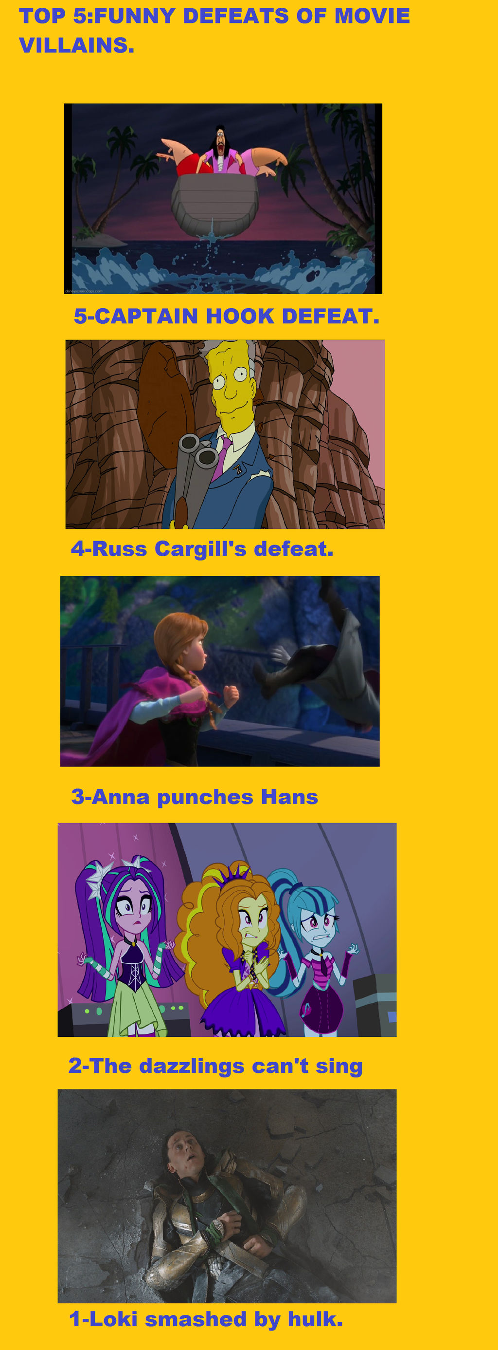 Top 5 Funny Defeats Of Movie Villains By Brandonale On Deviantart