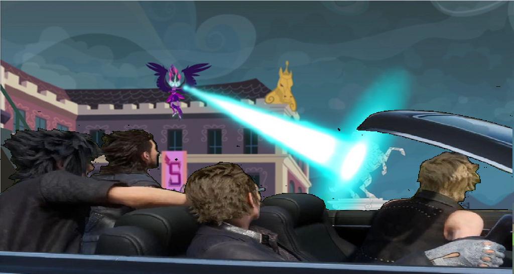 Final Fantasy XV Car Meme-Midnight Sparkle. by brandonale