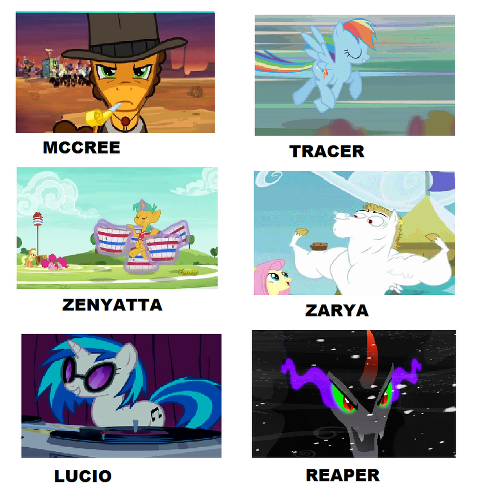 My Little Pony Overwatch Meme By Brandonale On Deviantart