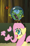 Spongebob and My Little Pony Butterfly Comparison.