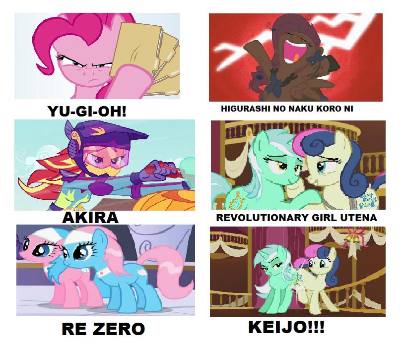 my little pony anime meme by brandonale on deviantart