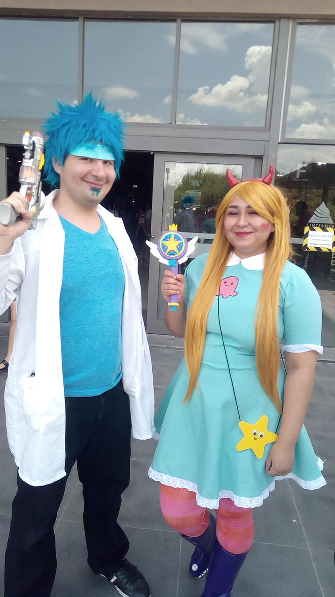 Rick Sanchez and Star Butterfly Cosplay. by brandonale