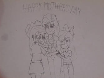 Happy Mother's Day-Equestria Girls Lineart.