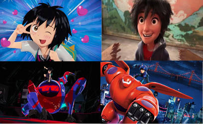 Peni Parker and Hiro Hamada Comparison. by brandonale