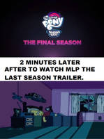 Bart reaction to MLP the last season trailer. by brandonale