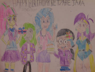 Happy Birthday Betzabe Jara Colored 2019. by brandonale