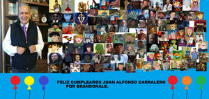 Feliz Cumpleayos Juan Alfonso Carralero collage.