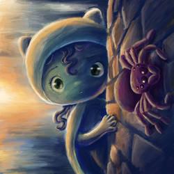 Hello Mr. Spidey by dleafy