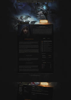 Website Layout for Wotlk