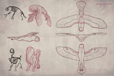 Owlf - Flying Model Sheet