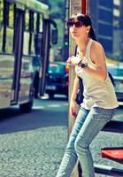 Shiny at bus stop