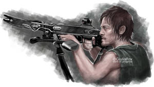 Daryl Dixon - 2nd wip - by JuliaFox90