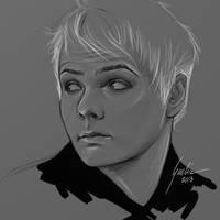 Gerard Way - wip - by JuliaFox90