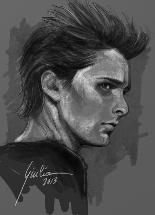 Matthew Bellamy - 2nd wip - by JuliaFox90