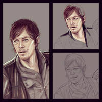 Daryl - wip - by JuliaFox90