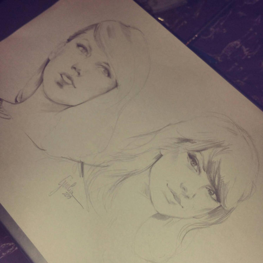 Taylor Swift sketches  by JuliaFox90