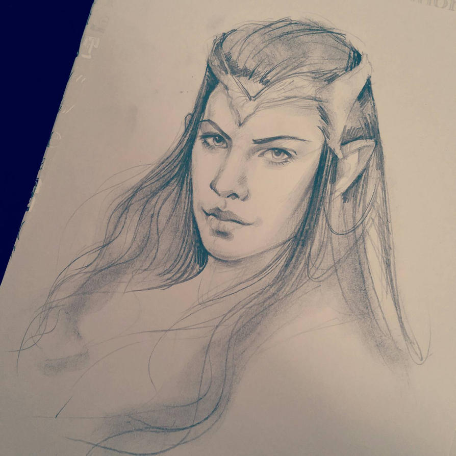 Arwen Sketch by JuliaFox90