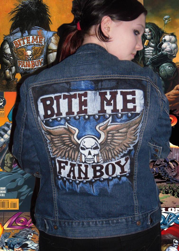 Lobo bite me fanboy jacket