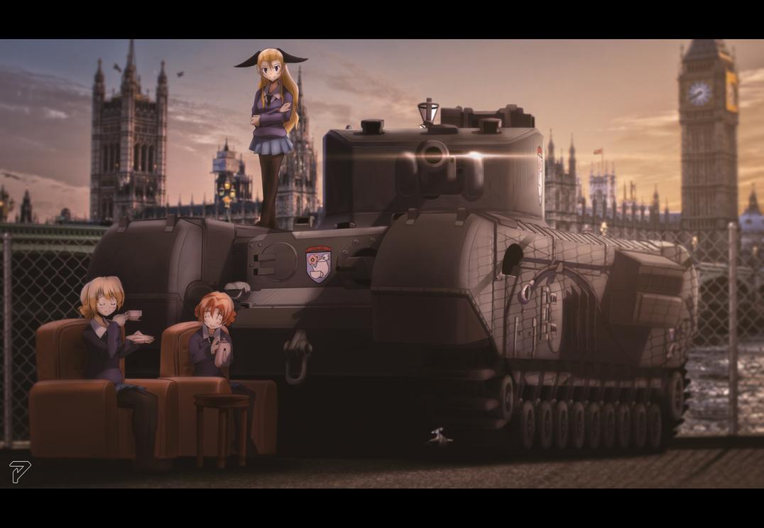 St. Gloriana Academy (Girls Und Panzer) by priatnaadnyana