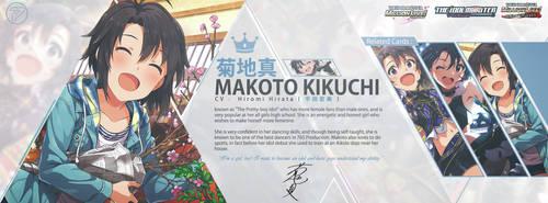 Makoto Kikuchi idolmaster Cover Design by priatnaadnyana