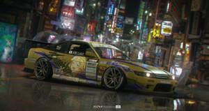 Nissan Silvia S13 - Clarice (Idolmaster CG) Itasha