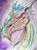 watercolor dragon 3 by kanderson137