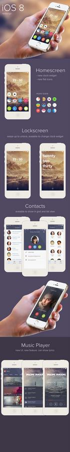 iOS 8 redesign concept