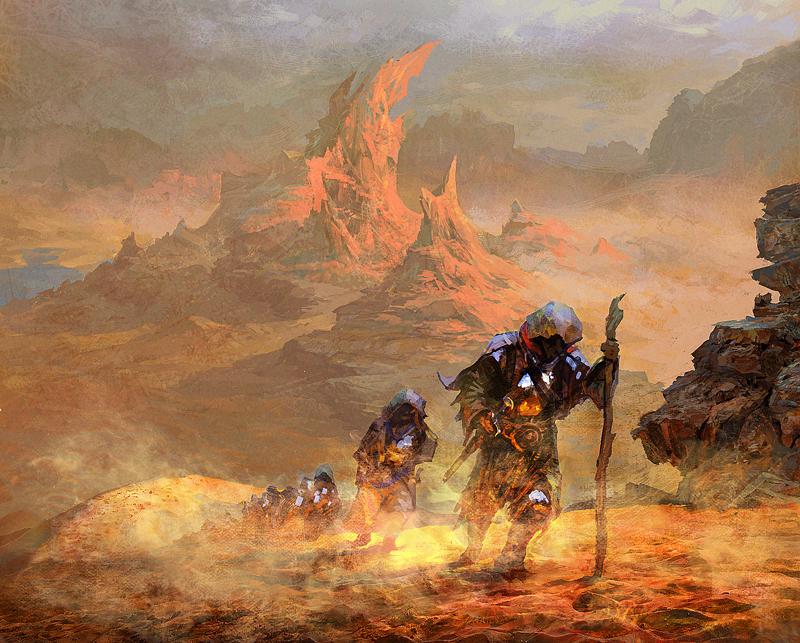 across the desert by Pervandr