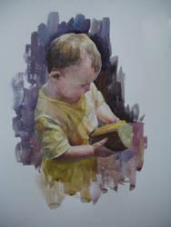 little girl by Andrei-Pervukhin