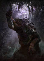 Swamp dwelling monster by Andrei-Pervukhin