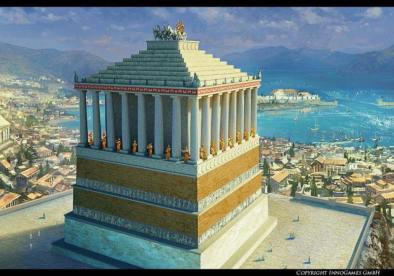 The Mausoleum of Halicarnassus by Pervandr