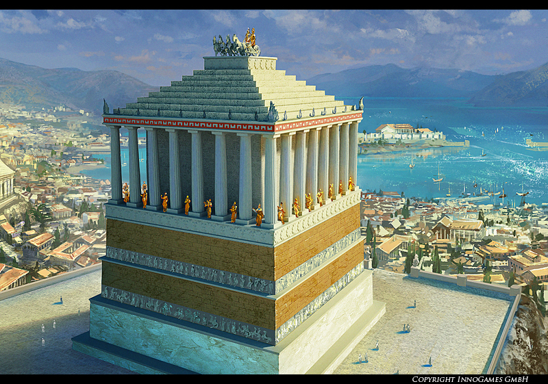 The Mausoleum of Halicarnassus by Andrei-Pervukhin