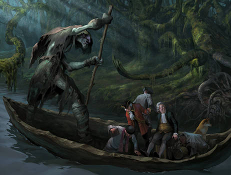 The travel by the dark river