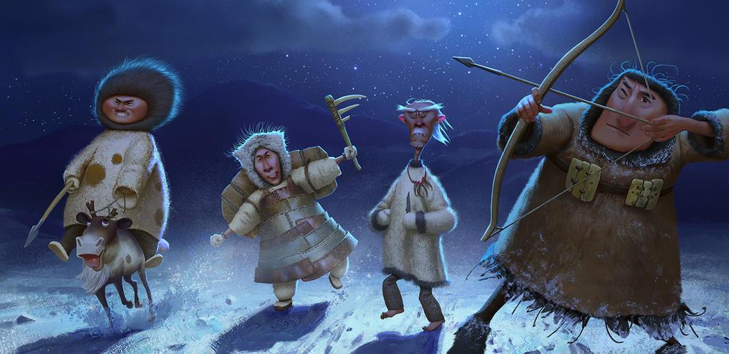 Chukchi warriors by Andrei-Pervukhin