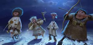 Chukchi warriors