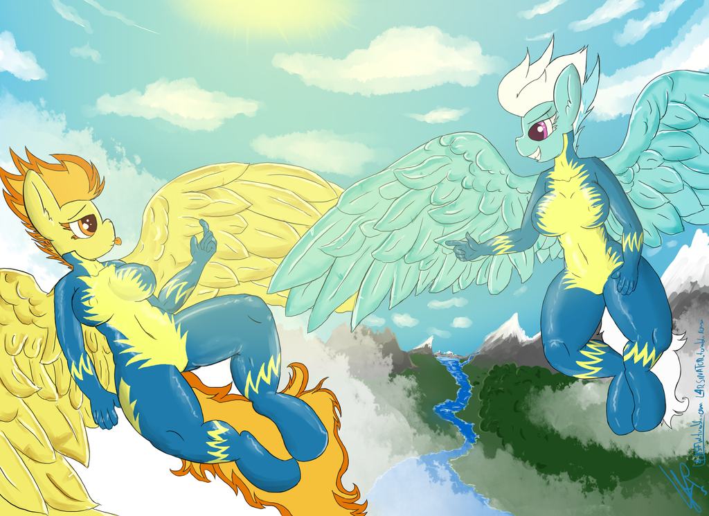 Fleetfire in the sky by l4rsinator