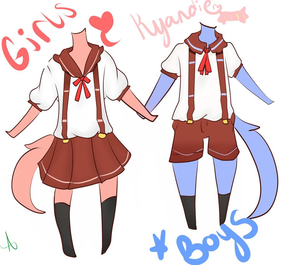Kyandie Academy: Elementary Uniforms! by Senpai-Pandapie
