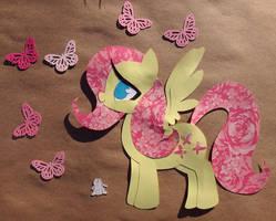 Paper Fluttershy by PrettyPinkP0ny