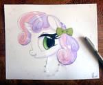 Sweetie Belle 3D Watercolor Painting