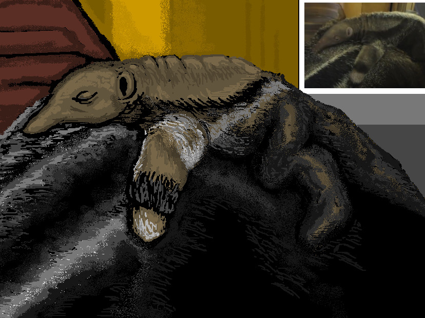 ms paint quickie baby anteater by dourdan