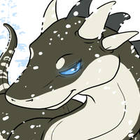 dragoness in the snow by Eelea