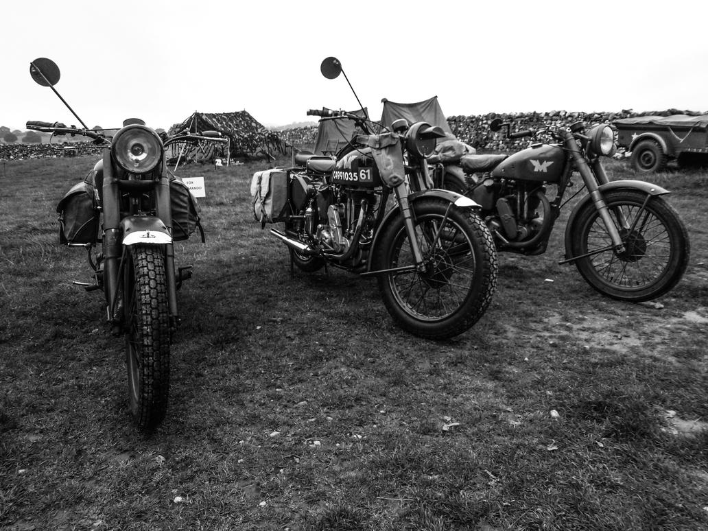 Military Bikes by friartuck40