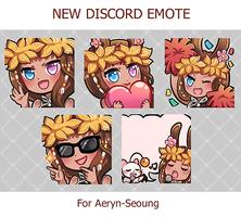 Aeryn-Seoung Discord Emotes Commission by Lybica