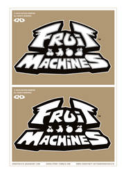 FRUIT MACHINES - Logo - Black and White - WIP